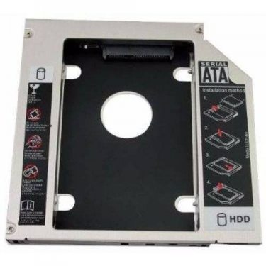 ADAPTADOR DVD NOTEBOOK SECOND HDD CADDY 12.7MM