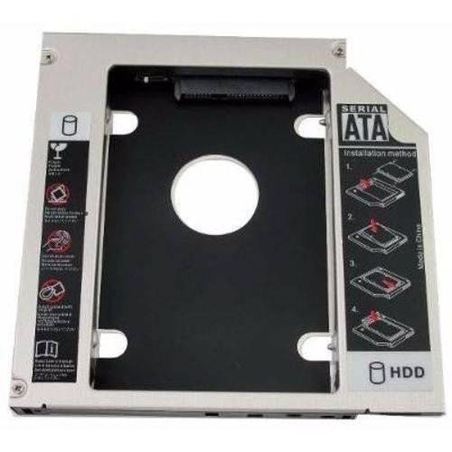 Adaptador Dvd Notebook Second Hdd Caddy 12.7mm