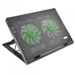 BASE NOTEBOOK WARRIOR GAMER ATE 17´2 COOLERS LED VERDE USB AC267 MULTILASER