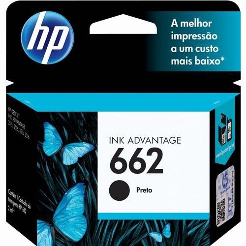 Cartucho de Tinta Hp 662 Preto 2ml Original