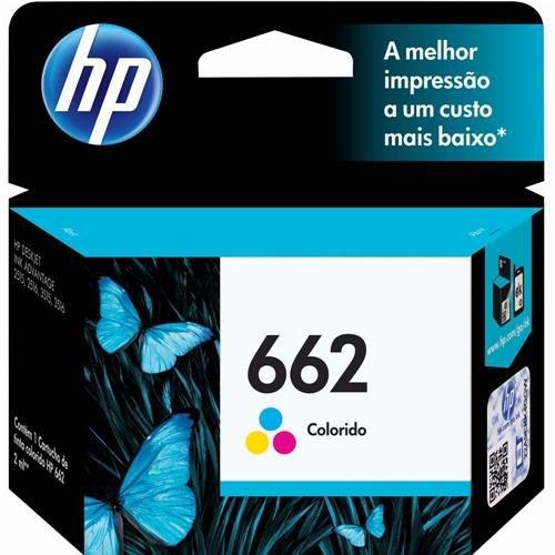 Cartucho de Tinta Hp 662 Tricolor 2ml Original