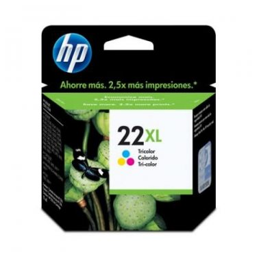 CARTUCHO HP 22XL TRICOLOR 17ML ORIGINAL