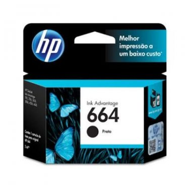 CARTUCHO DE TINTA HP 664 PRETO 2ML ORIGINAL