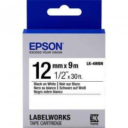FITA EPSON LK-4WBN 12MM PRETO/BRANCO LW 300