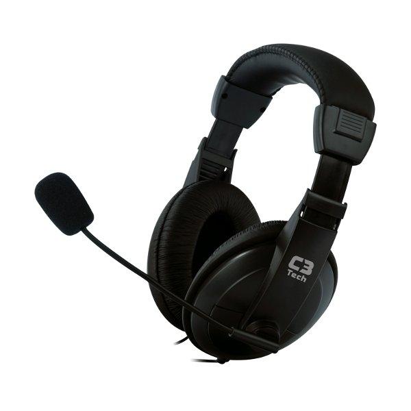 Headphone Fone+mic C3tech Mi-2260 Arc/voicer Comfort