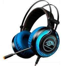Headset Gamer Stereo C/microfone Preto Rgb Ar-s9 K-mex