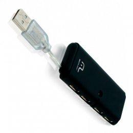 HUB 4 PORTAS USB 2.0 SLIM PRETO AC064 MULTILASER
