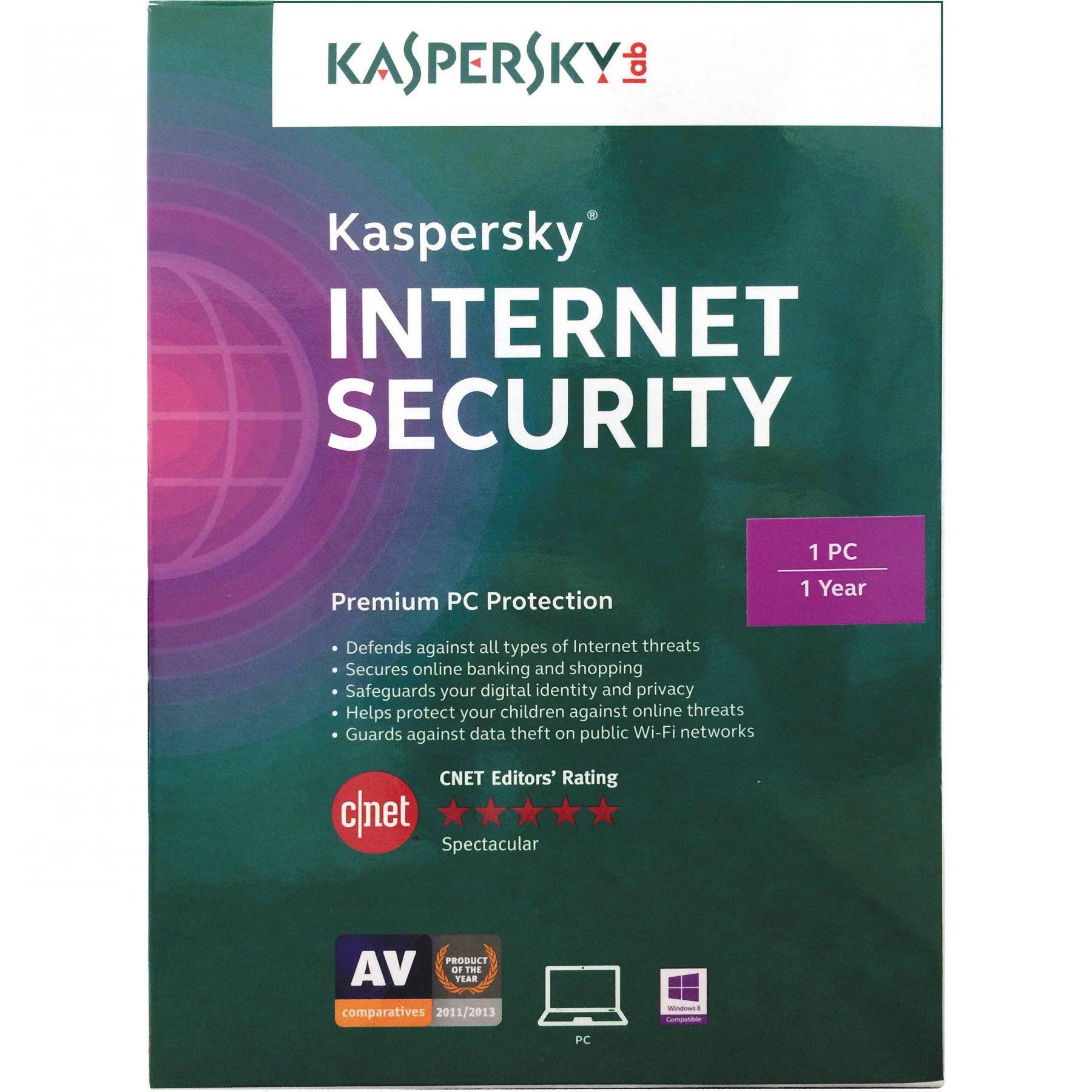 Kaspersky Internet Security 3 Pcs - 1 Ano