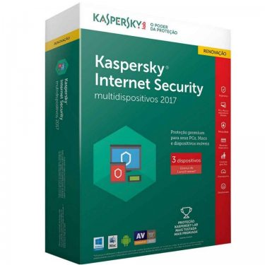 KASPERSKY INTERNET SECURITY  - 3 PCS - 1 ANO - RENOVAÇÃO