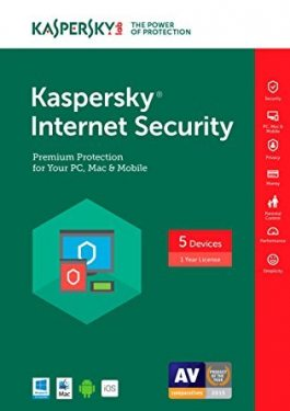 KASPERSKY INTERNET SECURITY  - 5 PCS - 1 ANO