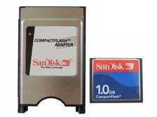 KIT ADAPTADOR COMPACT FLASH PCMIA 1 GB SANDISK