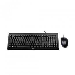 KIT TECLADO E MOUSE OPTICO C/FIO PRETO USB C2500 HP
