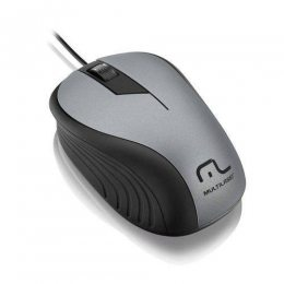 MOUSE OPTICO 1200DPI PRETO/GRAFITE USB MO225 MULTILASER