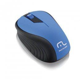 MOUSE SEM FIO 1200 DPI PRETO/AZUL USB MO215 MULTILASER