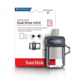 PEN DRIVE 16GB ULTRA DUAL USB 3.0 SANDISK
