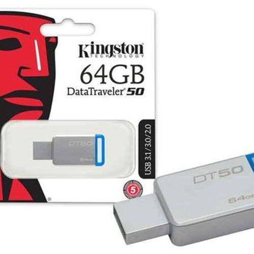 Pen Drive 64gb Datatraveler Dt50  Usb 3.1 Kingston