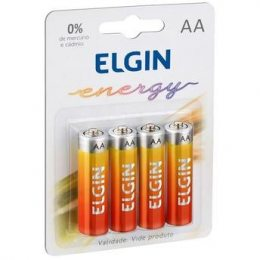PILHA ZINCO AA 1,5V BLISTER C/4 R3 ELGIN
