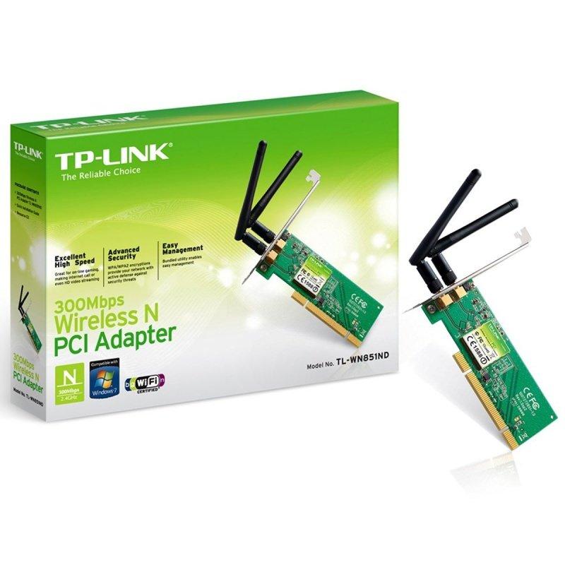 Placa de Rede Pci Wifi 300m Tp-link Tl-wn851nd