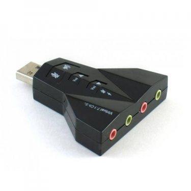PLACA DE SOM USB 7.1 DUPLA 2 FONES E 2 MICROFONES