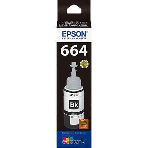 Refil de Tinta T664120-al Preto 70ml Epson