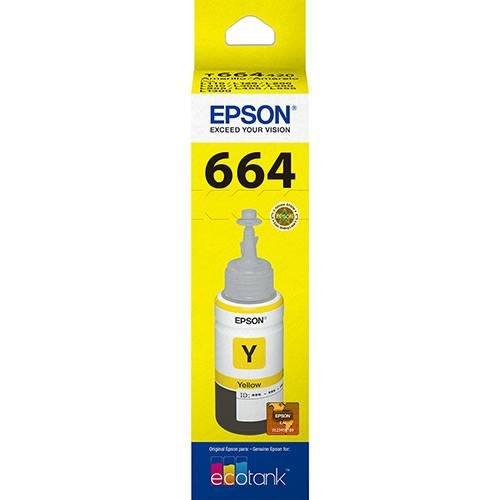 Refil de Tinta T664420-al Amarelo 70ml Epson
