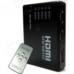 SWITCH HDMI 5 X 1 5 ENTRADAS 1 SAIDE E CONTROLE REMOTO